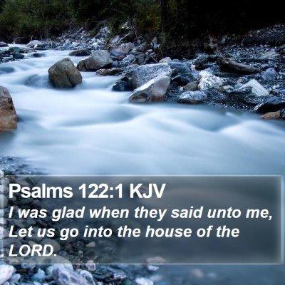 Psalms 122:1 KJV Bible Verse Image