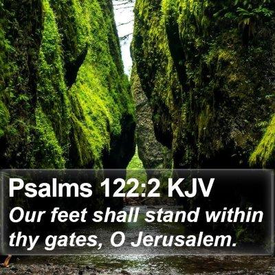 Psalms 122:2 KJV Bible Verse Image