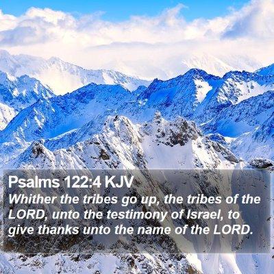Psalms 122:4 KJV Bible Verse Image