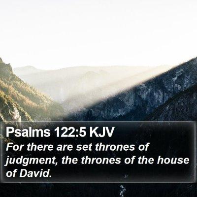 Psalms 122:5 KJV Bible Verse Image