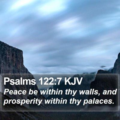 Psalms 122:7 KJV Bible Verse Image