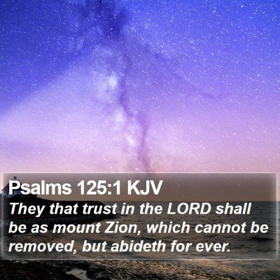 Psalms 125:1 KJV Bible Verse Image