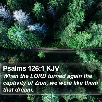 Psalms 126:1 KJV Bible Verse Image