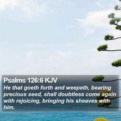 Psalms 126:6 KJV Bible Verse Image
