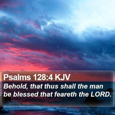 Psalms 128:4 KJV Bible Verse Image