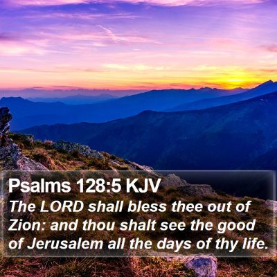 Psalms 128:5 KJV Bible Verse Image