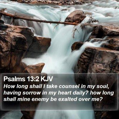 Psalms 13:2 KJV Bible Verse Image