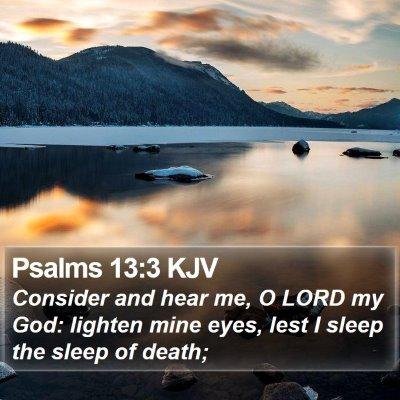 Psalms 13:3 KJV Bible Verse Image