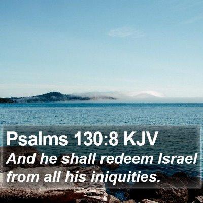 Psalms 130:8 KJV Bible Verse Image