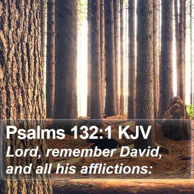 Psalms 132:1 KJV Bible Verse Image