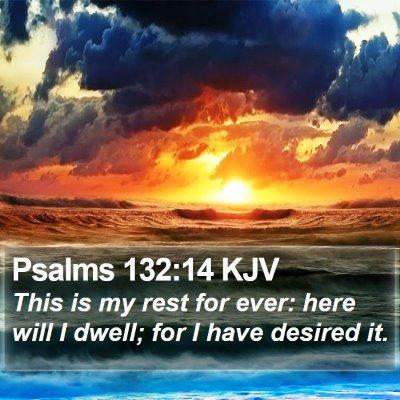 Psalms 132:14 KJV Bible Verse Image