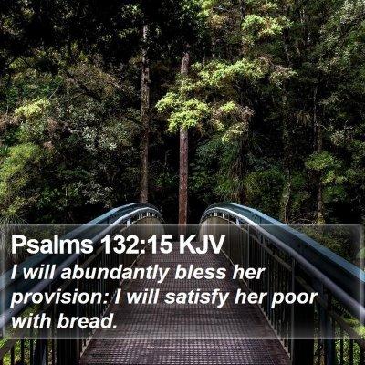 Psalms 132:15 KJV Bible Verse Image