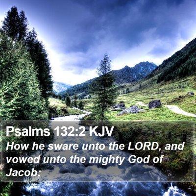 Psalms 132:2 KJV Bible Verse Image