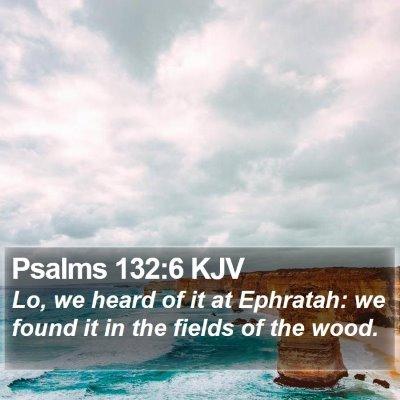 Psalms 132:6 KJV Bible Verse Image