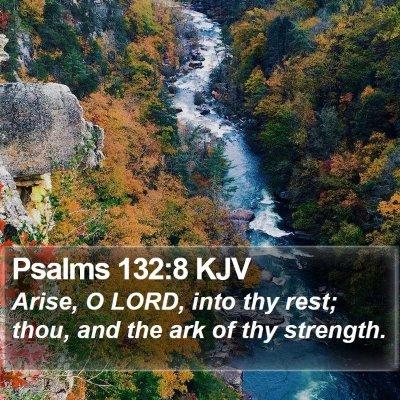 Psalms 132:8 KJV Bible Verse Image