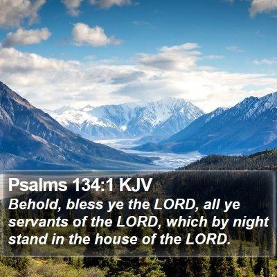 Psalms 134:1 KJV Bible Verse Image
