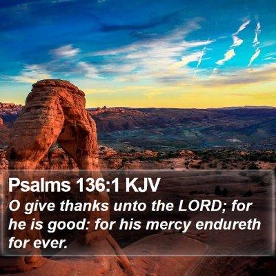 Psalms 136:1 KJV Bible Verse Image
