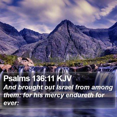 Psalms 136:11 KJV Bible Verse Image