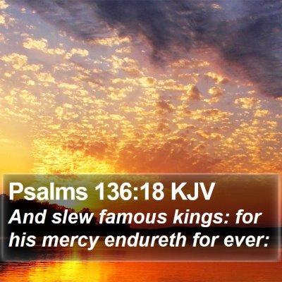 Psalms 136:18 KJV Bible Verse Image