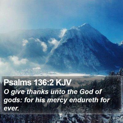 Psalms 136:2 KJV Bible Verse Image