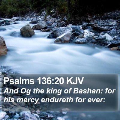 Psalms 136:20 KJV Bible Verse Image