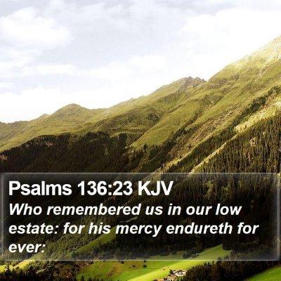Psalms 136:23 KJV Bible Verse Image
