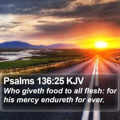Psalms 136:25 KJV Bible Verse Image
