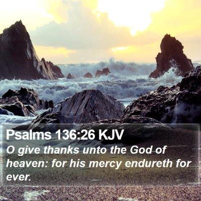 Psalms 136:26 KJV Bible Verse Image