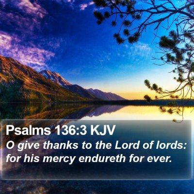 Psalms 136:3 KJV Bible Verse Image