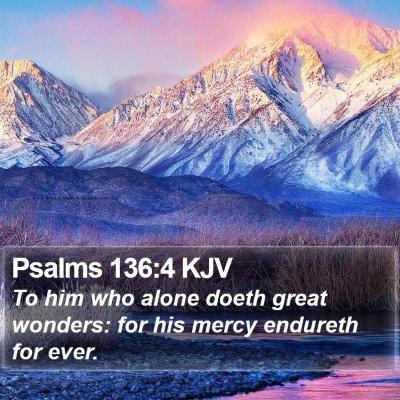 Psalms 136:4 KJV Bible Verse Image