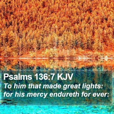 Psalms 136:7 KJV Bible Verse Image