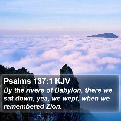 Psalms 137:1 KJV Bible Verse Image