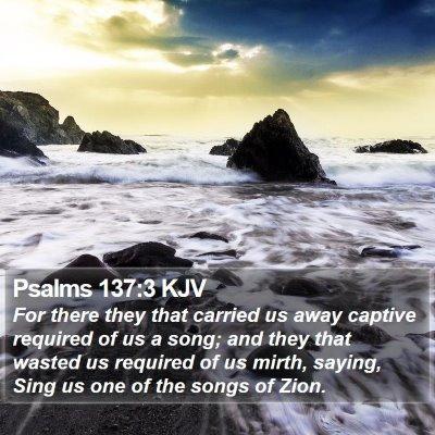 Psalms 137:3 KJV Bible Verse Image