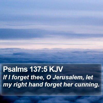 Psalms 137:5 KJV Bible Verse Image
