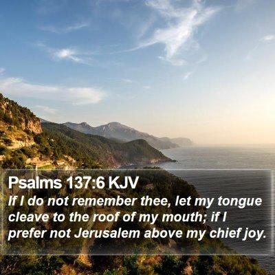 Psalms 137:6 KJV Bible Verse Image