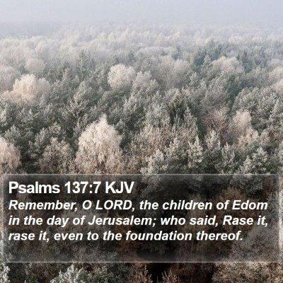 Psalms 137:7 KJV Bible Verse Image