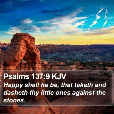 Psalms 137:9 KJV Bible Verse Image