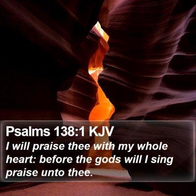 Psalms 138:1 KJV Bible Verse Image