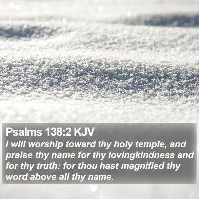 Psalms 138:2 KJV Bible Verse Image
