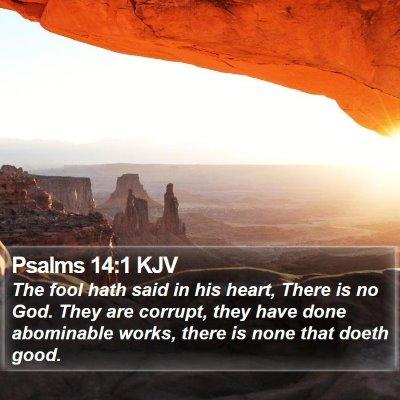 Psalms 14:1 KJV Bible Verse Image