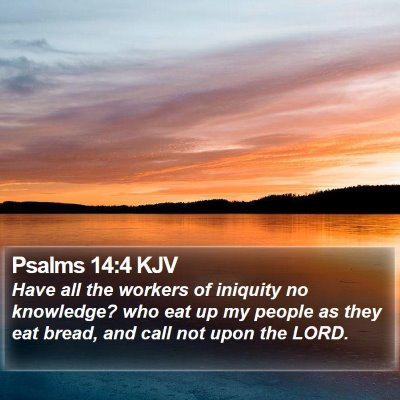 Psalms 14:4 KJV Bible Verse Image