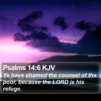 Psalms 14:6 KJV Bible Verse Image