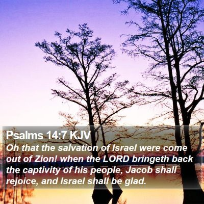 Psalms 14:7 KJV Bible Verse Image