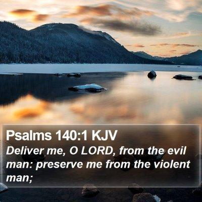 Psalms 140:1 KJV Bible Verse Image