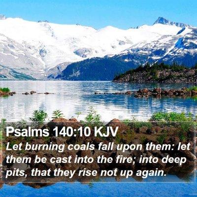 Psalms 140:10 KJV Bible Verse Image
