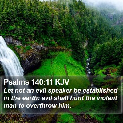Psalms 140:11 KJV Bible Verse Image