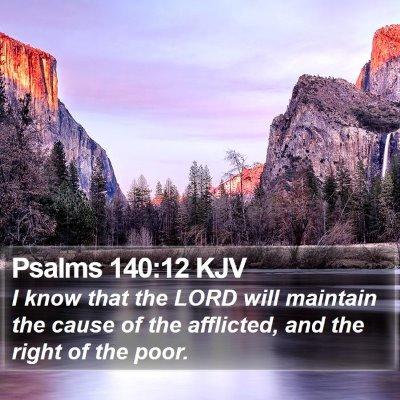 Psalms 140:12 KJV Bible Verse Image