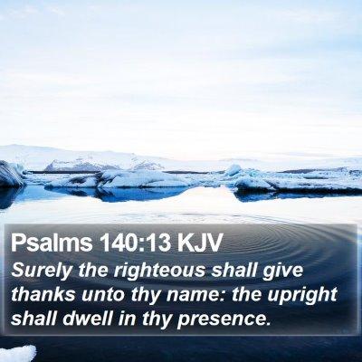 Psalms 140:13 KJV Bible Verse Image