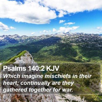 Psalms 140:2 KJV Bible Verse Image