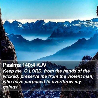 Psalms 140:4 KJV Bible Verse Image